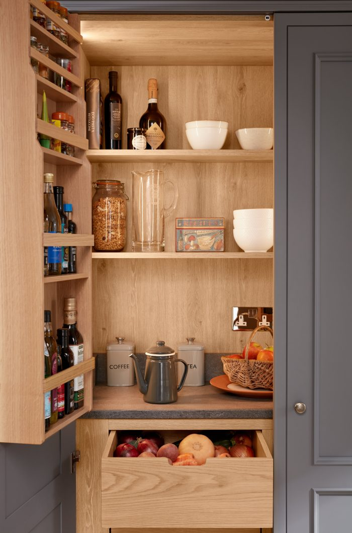 Kitchen Larder Units Bi Fold Cabinets Kitchen Storage Ideas