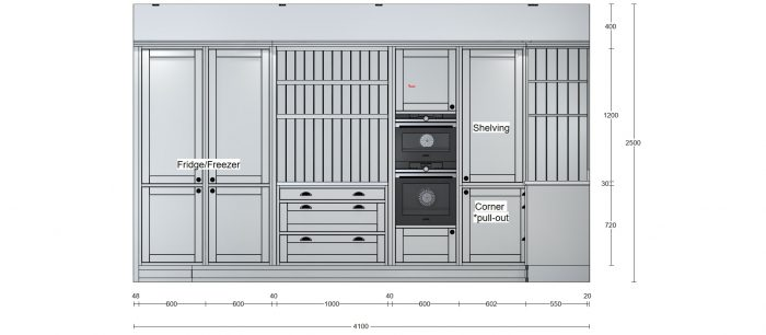 bespoke kitchen design CAD visual